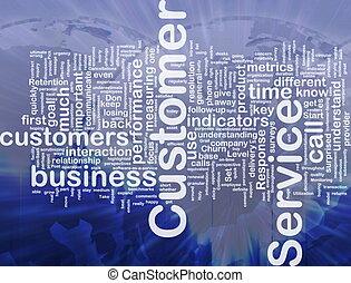 Background concept wordcloud illustration of customer service international