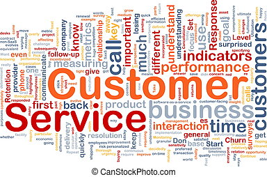 Customer service background concept - Background concept ...