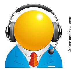 Customer service - Isolated illustration Customer service...