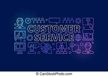Customer service colorful illustration - vector banner
