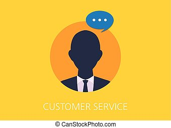 customer service concept flat icon