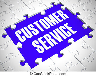 Customer service concept icon means help and support online - 3d illustration