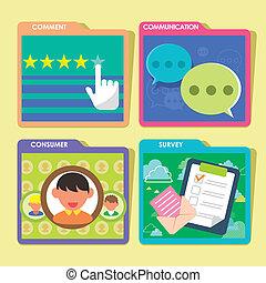 customer service concept in flat design