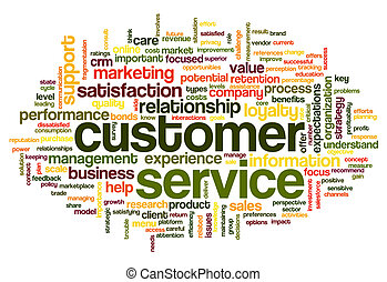 Customer service concept in word cloud - Customer service ...