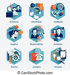 Customer Service Concept Set - Customer service concept set...