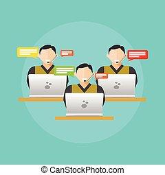 Customer service. Customer care team concept.
