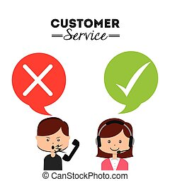 customer service design, vector illustration eps10 graphic