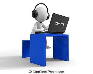 Customer service - Desk, computer , a businessman working, ...