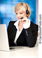 Customer service executive on working - Smart business ...