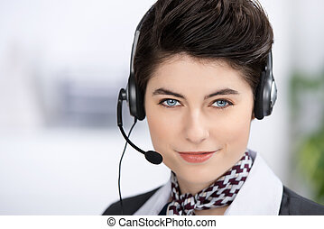 Customer Service Executive With Headset