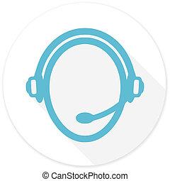 customer service flat design modern icon