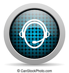 customer service glossy icon