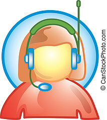 Customer service icon - Icon for customer service or speak...
