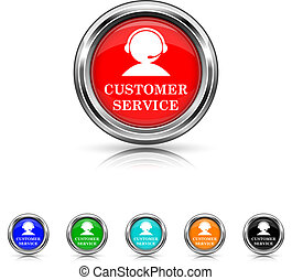 Customer service icon - six colours set