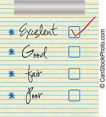 Customer Service icons - Tick placed in excellent checkbox ...