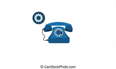 customer service icons, Video Animation