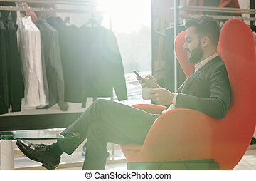 Customer service in clothing shop