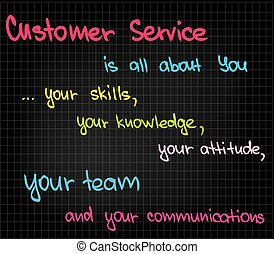 Customer Service approach to successful and efficient business