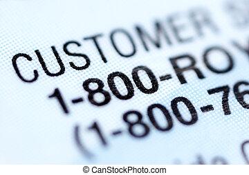 Customer service number.