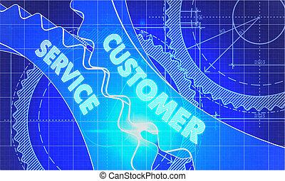 Customer Service on the Gears. Blueprint Style.