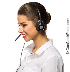 Customer service operator isolated