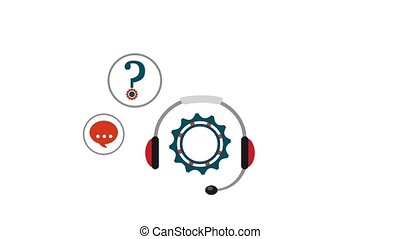 customer service people - headset helpline telephone support...