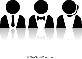 Customer service persons, vector illustration