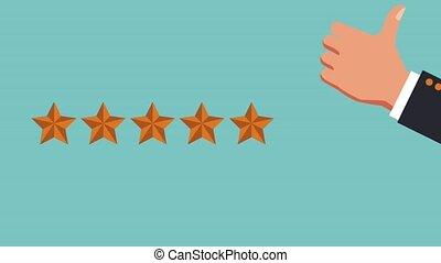 Customer service qualification HD animation - Five stars...