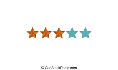Five stars qualification indicator High Definition colorful animation scenes