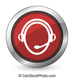 customer service red icon