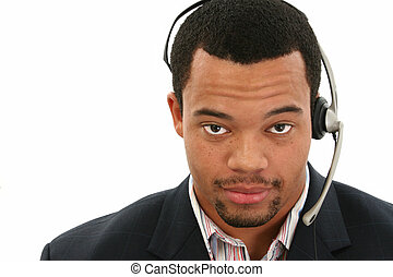 Customer Service Rep - Handsome African American business...