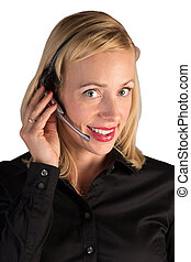 Customer Service Rep Helping on the Phone