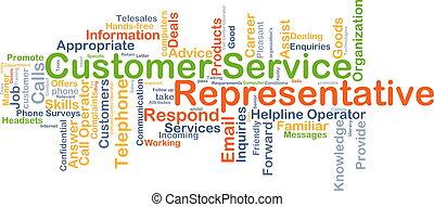 Customer service representative background concept