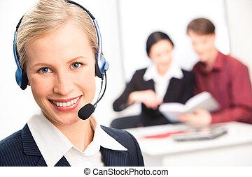 Customer service representative - Portrait of beautiful...