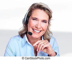 Customer service representative woman.