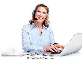 Customer service representative woman. - Customer service...