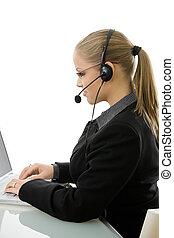 Customer service representative - Young customer service...