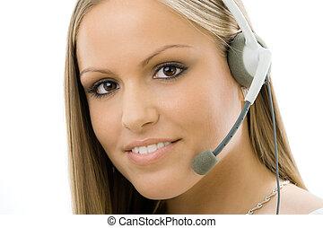 Customer service representative - Young happy beautiful...