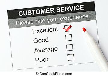 Customer service satisfaction survey form