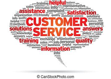 Customer Service speech bubble illustration on white...