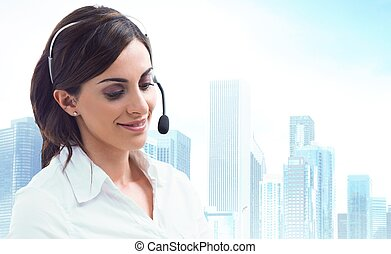 Customer service - Concept of customer service with...