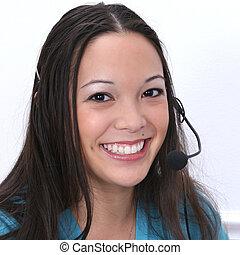 Customer Service - Young customer service representative....
