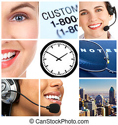 customer service - Smiling customer service operators with...