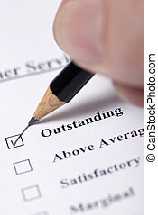 Customer Service survey - Filling out a customer service ...