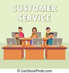 Customer Service Technical Support Team Illustration
