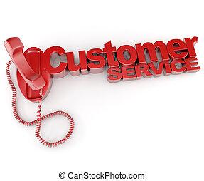 Customer service telephone