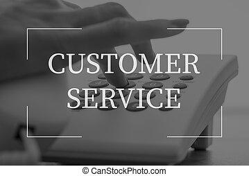 Customer service text over female telephone operator