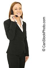 Customer Service Woman Standing