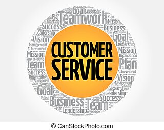 Customer Service word cloud collage, business concept background
