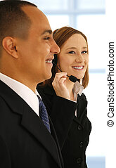 Customer Service Working In Office
